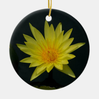 Yellow Lotus Waterlily Ceramic Ornament