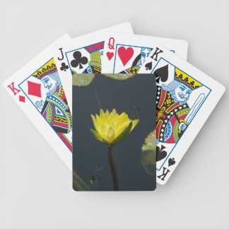 Yellow Lotus Waterlily & Dragonflies Playing Cards