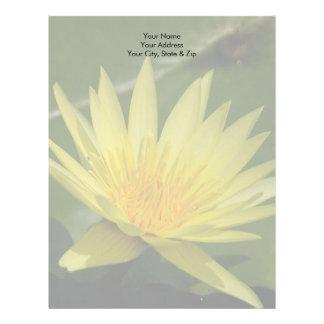 Yellow Lotus Waterlily Flower Letterhead