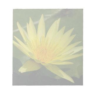 Yellow Lotus Waterlily Flower Notepad