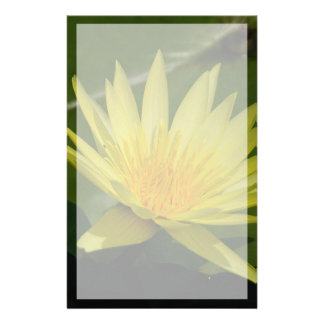 Yellow Lotus Waterlily Flower Stationery