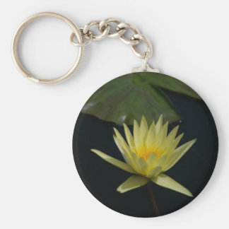 Yellow Lotus Waterlily Keychain