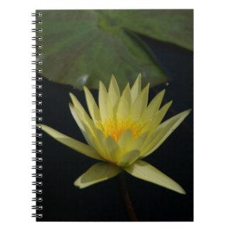 Yellow Lotus Waterlily Notebook