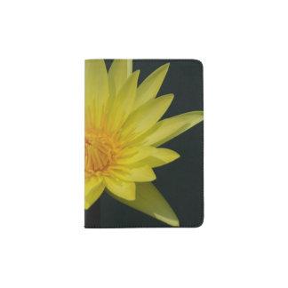 Yellow Lotus Waterlily Passport Holder