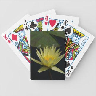 Yellow Lotus Waterlily Playing Cards