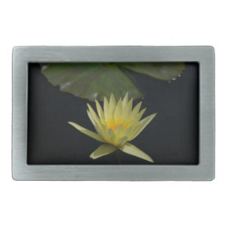 Yellow Lotus Waterlily Rectangular Belt Buckle