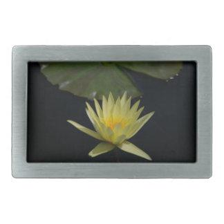 Yellow Lotus Waterlily Rectangular Belt Buckles