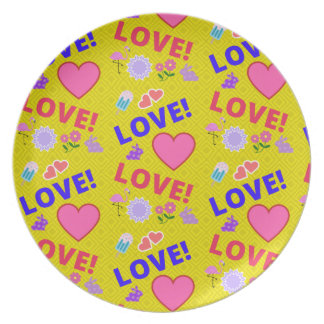 Yellow Love - 80s Rock Plate