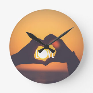 Yellow Love Sunset Sale Clocks