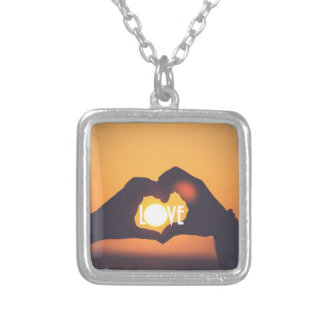 Yellow Love Sunset Sale Silver Plated Necklace