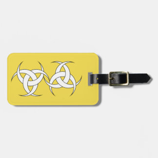 Yellow Luggage Tag w/ leather strap