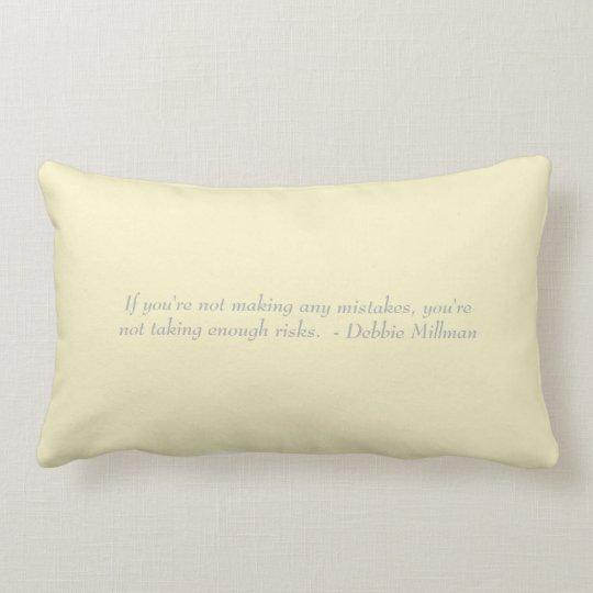 Yellow lumbar pillow, mistakes expression lumbar pillow