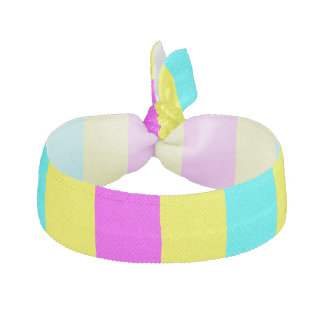 Yellow Magenta and Aqua Stripes Hair Tie