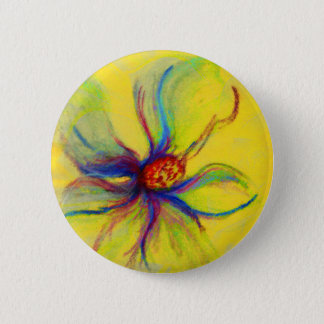 Yellow Magnolia Flower Collage 2 Inch Round Button