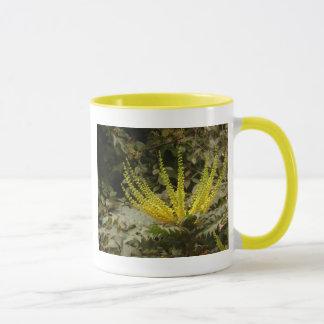 Yellow Mahonia Flowers Mug