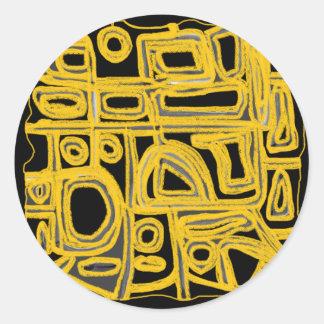 Yellow Maize Round Sticker