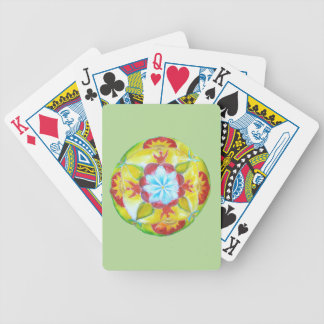 Yellow mandala Bicycle® Poker Playing Cards