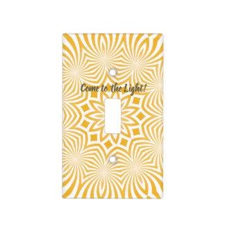 Yellow Mandala Light Switch Cover