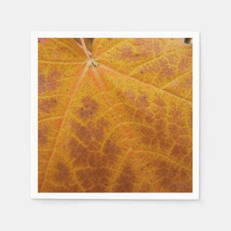 Yellow Maple Leaf Autumn Abstract Nature Paper Napkin