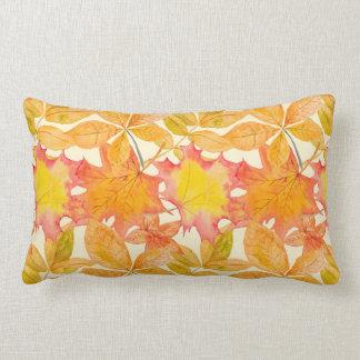 Yellow Maple Leaves Lumbar Pillow