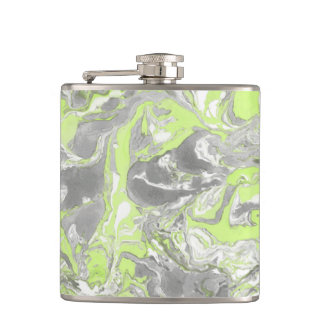 Yellow marble texture. Hand drawn artwork Flask