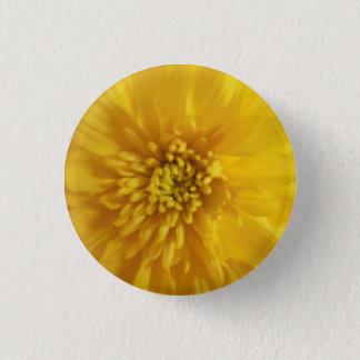 Yellow Marigold 1 Inch Round Button