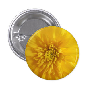 Yellow Marigold 1 Inch Round Button