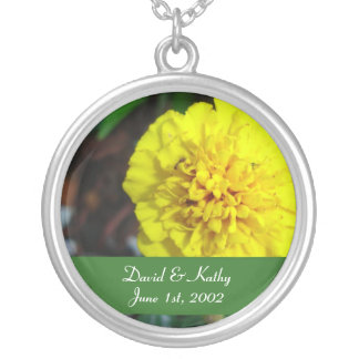 Yellow Marigold Flower Necklace