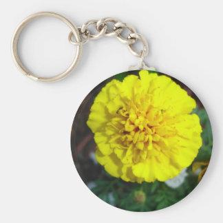 Yellow Marigold Keychain