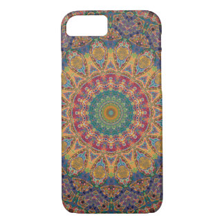 Yellow, Maroon and Blue Tapestry Mandala iPhone 8/7 Case
