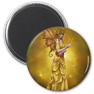Yellow Masquerade Princess 2 Inch Round Magnet