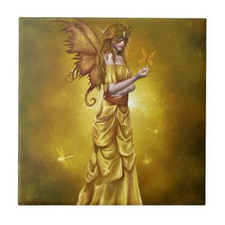 Yellow Masquerade Princess Ceramic Tiles