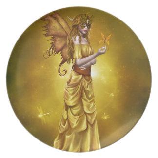 Yellow Masquerade Princess Plate