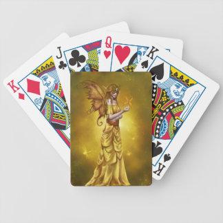 Yellow Masquerade Princess Poker Deck