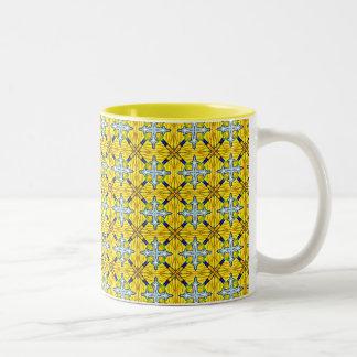 Yellow medieval Two-Tone coffee mug