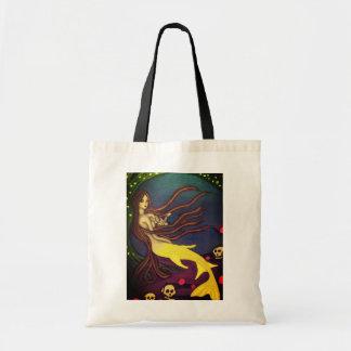 yellow mermaid tote bag