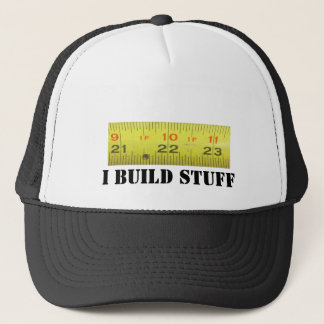 Yellow Metal Tape Measure Trucker Hat
