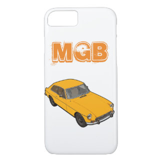 yellow MGB GT iPhone 8/7 Case
