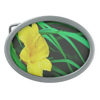 Yellow Michigan flowers Belt Buckle