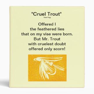 """Yellow Midge-Cruel Trout"" Fly Fishing Journal 3 Ring Binder"
