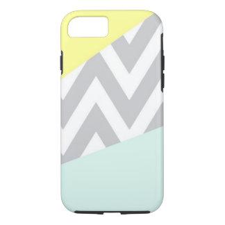 Yellow & Mint Color Block Chevron iPhone 8/7 Case