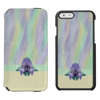 Yellow Mint Lilac Pattern Floral Incipio Watson™ iPhone 6 Wallet Case