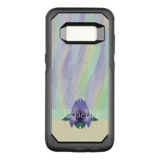Yellow Mint Lilac Pattern Floral OtterBox Commuter Samsung Galaxy S8 Case
