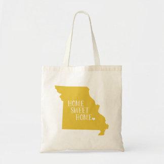 Yellow Missouri Home Sweet Home State Tote Bag