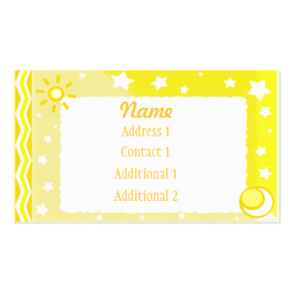 Yellow Modern Abstract  Business Business Card