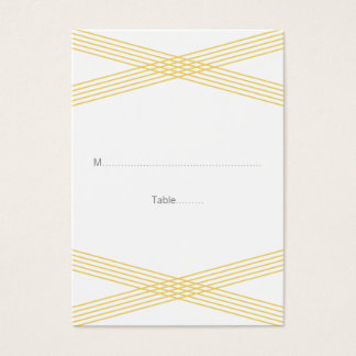 Yellow Modern Deco Wedding Place Cards