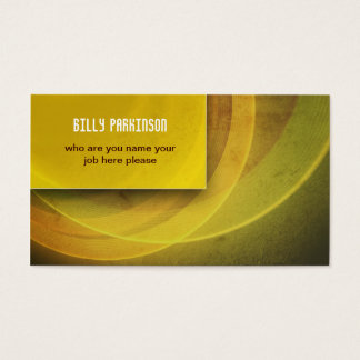 yellow modern grungy business card