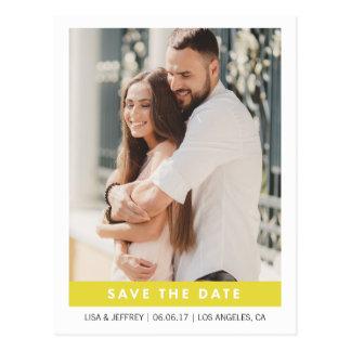 Yellow | Modern Love Photo Save the Date Postcard