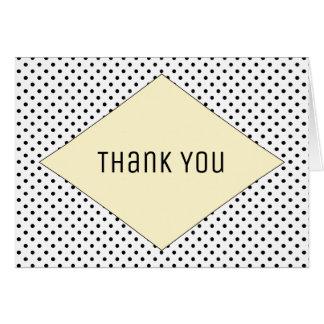 Yellow Modern Polka Dots Thank You Card