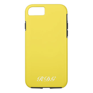 Yellow Modern Professional With White Monogram iPhone 8/7 Case